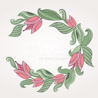 Wreath,hand drawn,Design,Fl...