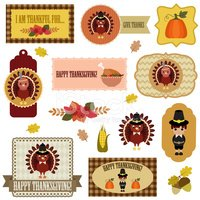 Thanksgiving,Badge,Symbol,S...