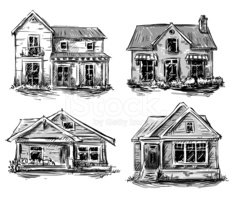 House,House,Drawing - Art P...