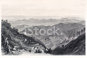 Mountain,Etching,Landscape,...