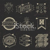 Hipster,Label,Drawing - Act...