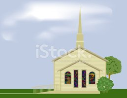Church,Small,Stained Glass,...