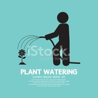 Watering,Plant,Sign,Ilustra...