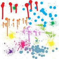 Ink and paint blot set