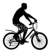 Cycling,Vector,Silhouette,B...