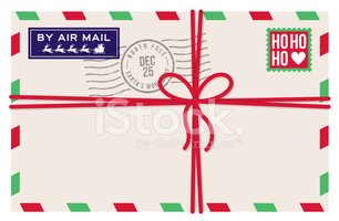 christmas air mail letter from santa