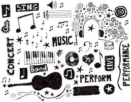 Music,Doodle,Musical Note,G...