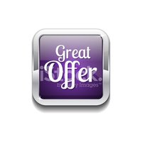 Great Offer Purple Vector Icon Button