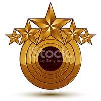 Geometric vector classic golden element isolated on white