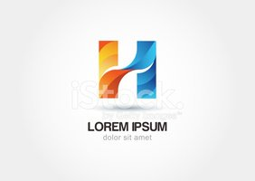 Abstract logo design letter h. Vector logo icon template.
