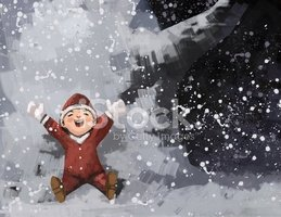 Painted Image,Winter,Snow,O...