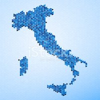 Cartography,Map,Italy,Color...