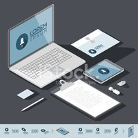 Isometric,Laptop,Computer,m...
