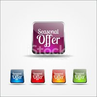 Seasonal Offer Colorful Vector Icon Design