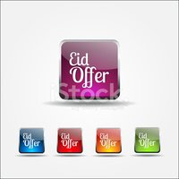 Eid Offer Colorful Vector Icon Design