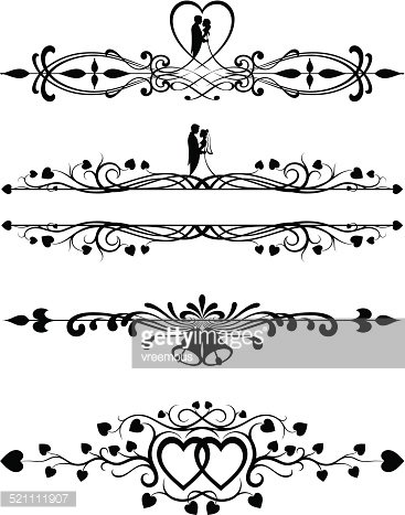 ornate wedding scrolls stock vectors clipart me