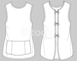 Production Flats: Service Uniforms: Tabard Apron