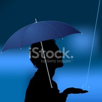Umbrella,Profile View,Rain,...
