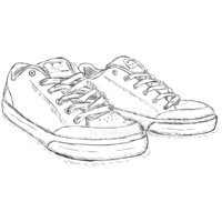 Vector Sketch Skaters Shoes