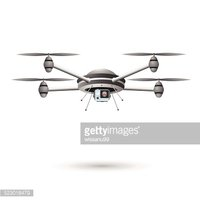 Drone with Camera. 3d design vector