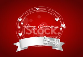 Christmas background with Shiny ribbon, vector illustration.