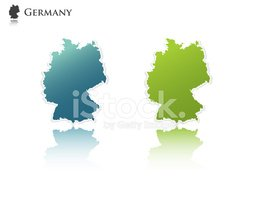 Germany,Map,Outline,Europe,...