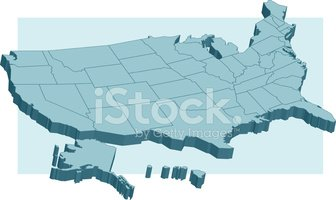 Map,Cartography,USA,Three-d...