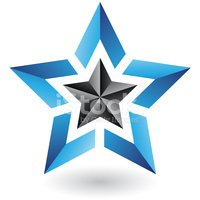 Star Shape,Blue,Geometric S...
