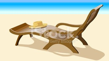 Chaise Longue,Straw Hat,Bea...
