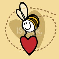 Bee,Heart Shape,Valentine's...