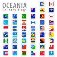 Vector Square Oceania National Flags