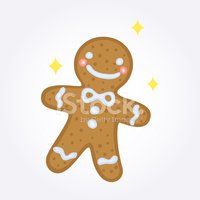 Cute,Gingerbread Cookie,Mul...
