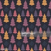 Abstract Color  Christmas tree seamless pattern