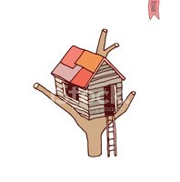 tree House icon, vector illustration.