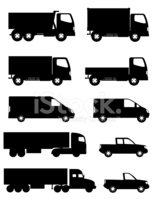 Silhouette,Truck,Pick-up Tr...