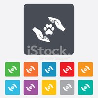 Red,Pets,Label,Animal,Paw,S...