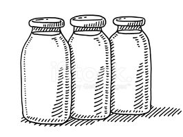 Milk Bottle,Line Art,Milk,G...