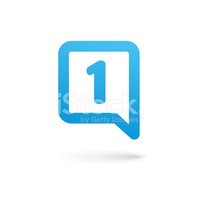 Number one 1 speech bubble logo icon design template elements