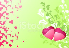 Backgrounds,Heart Shape,Gre...