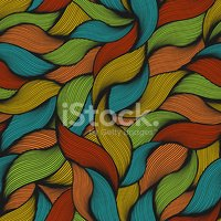 Funky,Textured,Vector,Leaf,...