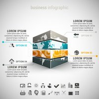 Infographic,Business,Map,Wo...