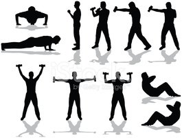 Exercising,Silhouette,Relax...