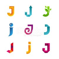 set of letter j logo icons design template elements collection