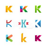 set of letter k logo icons design template collection stock vectors