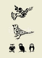 Bird,Symbol,Retro Revival,O...