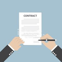 Contract,Human Hand,Text,Ca...
