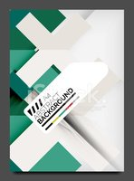 Flyer design template, business web layout