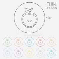 Symbol,Fruit,Outline,Vector...