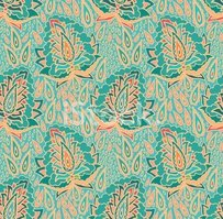 Paisley,Blooming,Wallpaper,...