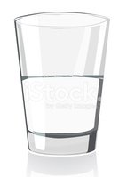 Half Full,Drinking Water,Gl...